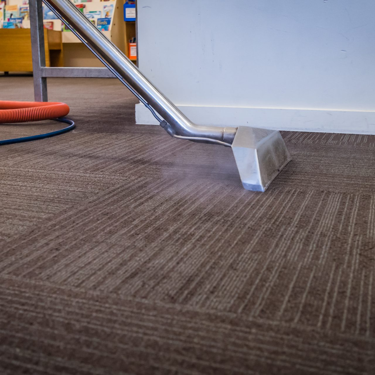 Steam,Carpet,Cleaning,At,A,School,-,Professional,Hot,Water